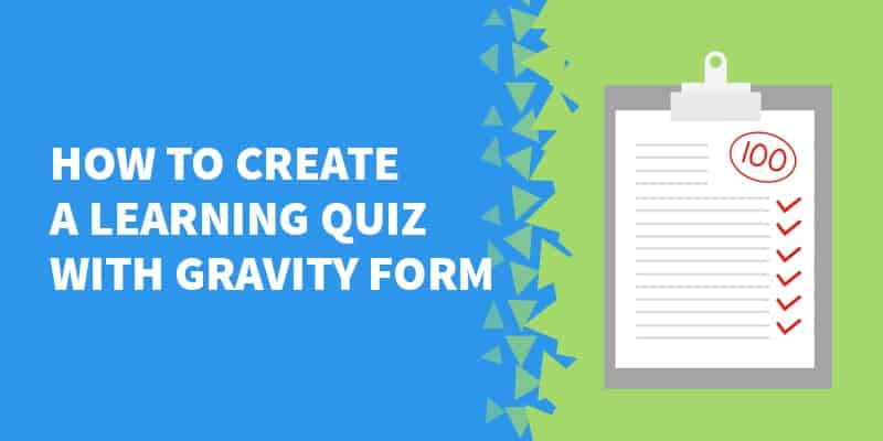 How to create a PDF quiz or Checklist with GravityForms