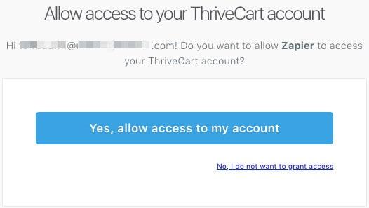 allow access thrivecart - How to integrate ThriveCart with MemberPress using Zapier