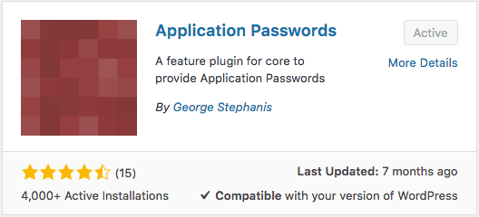 Application Passwords Plugin for WordPress