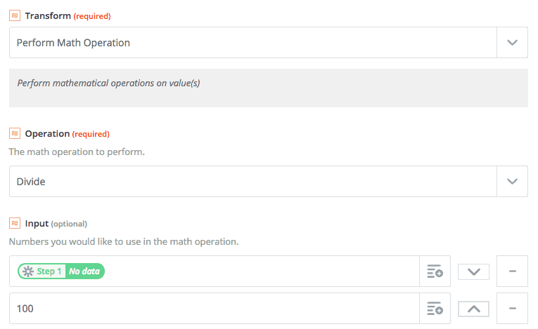 zapier perform math operation