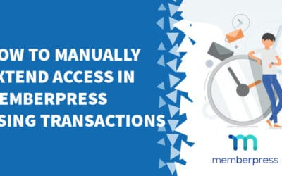 How to manually extend access in MemberPress using transactions