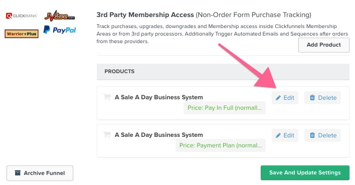 funnel settings paypal - How to Integrate Memberpress with Clickfunnels