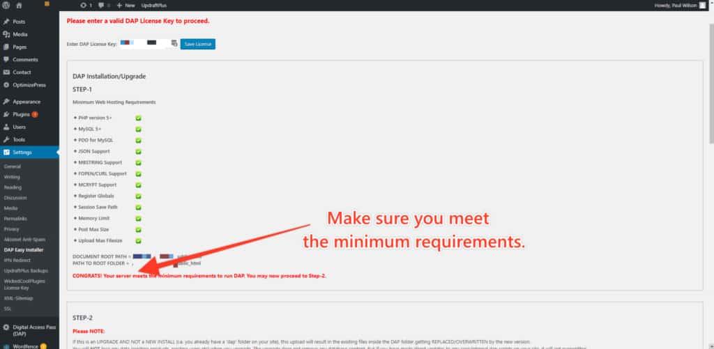 minimum req 1024x501 - How to Install / Update DAP