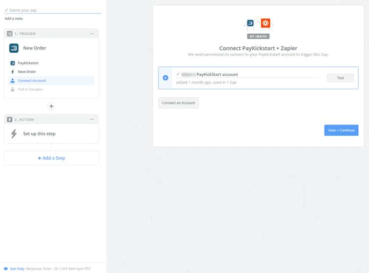 zapier connect account - MemberMouse integration with PayKickStart