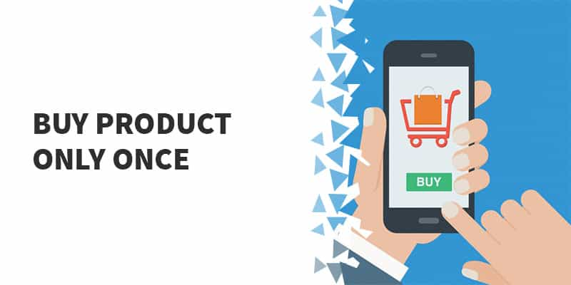 Allow product purchase only ONCE in WooCommerce