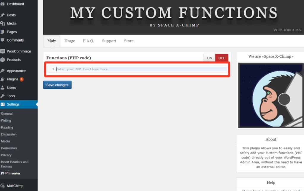 paste here 1024x646 - Allow product purchase only ONCE in WooCommerce