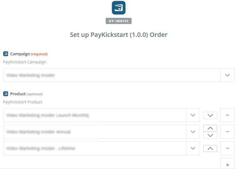pks campaign 1 - Change MemberMouse level, update PayKickStart subscription
