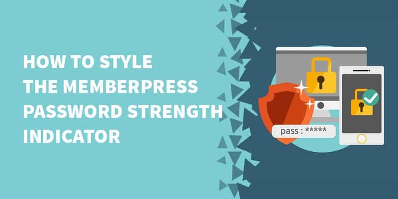 How to style the MemberPress password strength indicator - [Plugin] Bypass MemberPress set password on registration