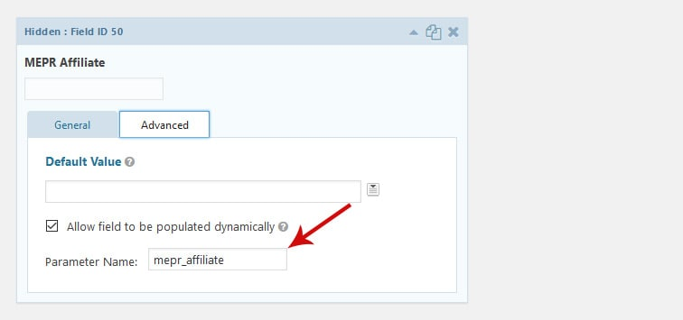 affiliatewp parameter - How to send a GravityForms parameter to an external site