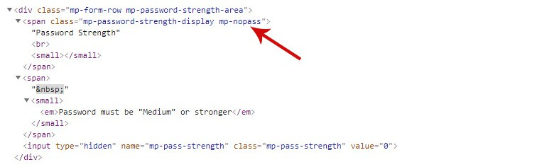 css code - How to style the MemberPress password strength indicator
