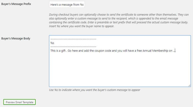 email message gift - Use WooCommerce to allow gifting of MemberPress products