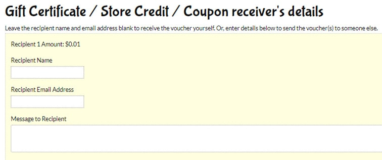 gift certificate store credit - Use WooCommerce to allow gifting of MemberPress products