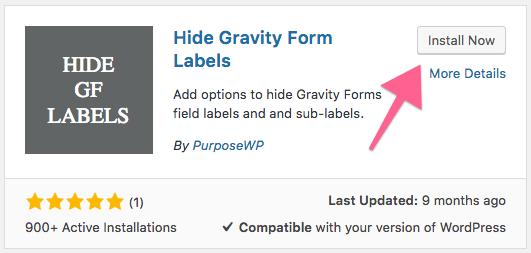 hide gravity form label - Gravity Forms - hide label