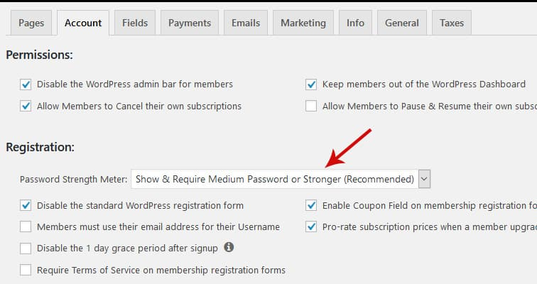 password meter - How to style the MemberPress password strength indicator