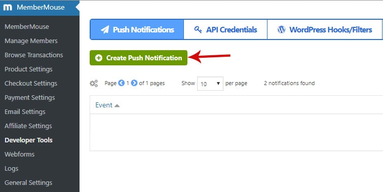 create push notification - How to deeply integrate MemberMouse with ConvertKit