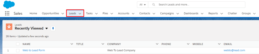 Lead Created 1024x215 - How to add Contact Form leads into SalesForce