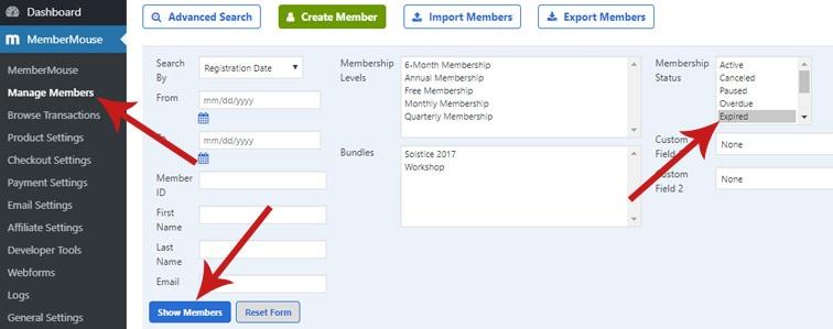 membermouse expired members - How to bulk delete MemberMouse expired members