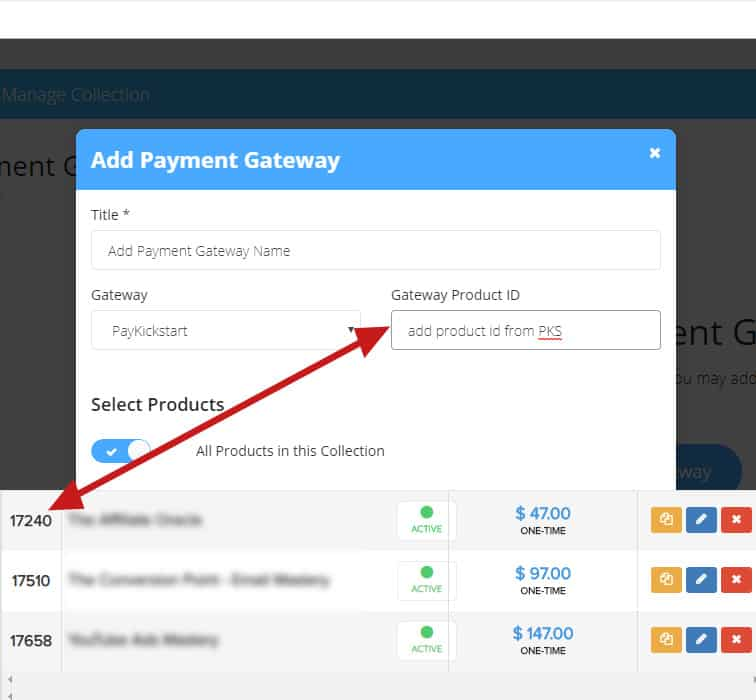 payment gateway2 - How to integrate PayKickstart campaigns with ProductDyno