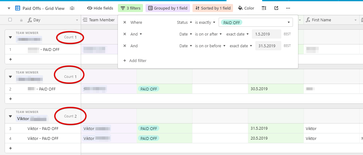 MemberFix Control Center  Schedule Airtable Google Chrome 2019 06 18 03.49.37 - How to automatically calculate payroll using Airtable