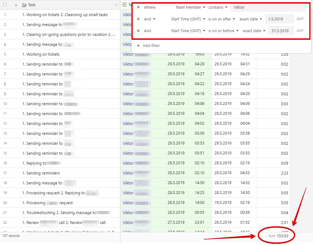 MemberFix Control Center  Timesheet Airtable Google Chrome 2019 06 18 03.25.53 - How to automatically calculate payroll using Airtable
