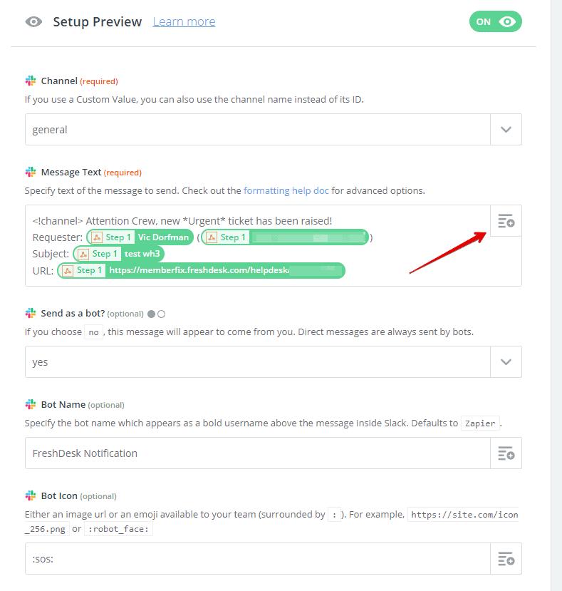 Trigger Urgent ticket to Slack   Zapier Google Chrome 2019 06 15 04.03.38 - Send urgent ticket notifications from FreshDesk to Slack