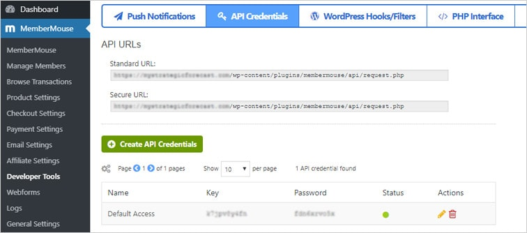 membermouse api credentials wp - Auto change membership levels in MemberMouse upon signup