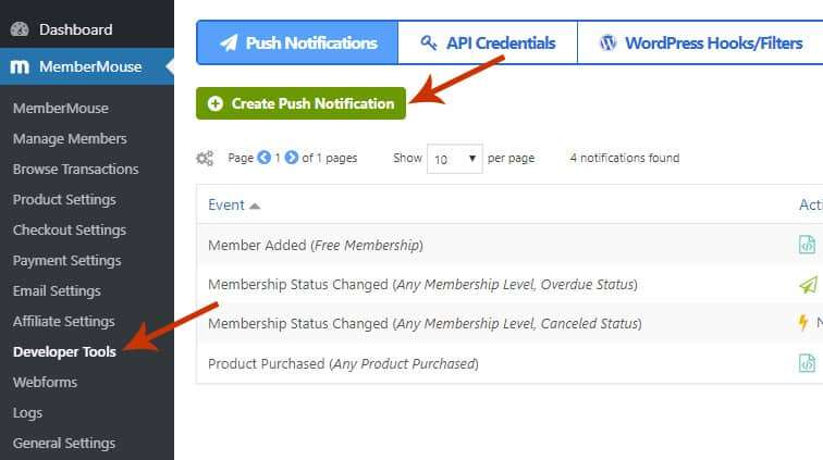 membermouse push notification - Auto change membership levels in MemberMouse upon signup