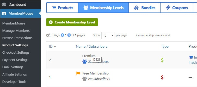 mm membermouse membership id - Auto change membership levels in MemberMouse upon signup