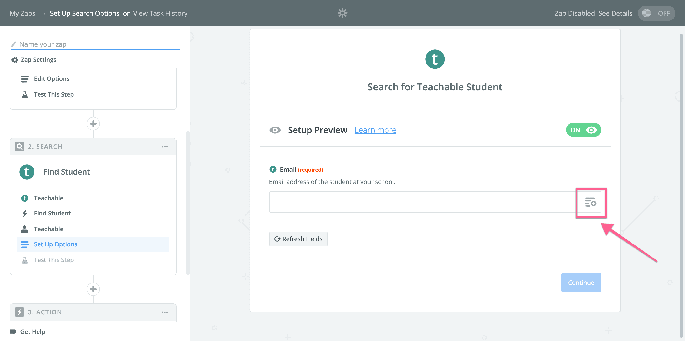 step 15 in Zapier - Removing Teachable access based on Stripe subscriptions