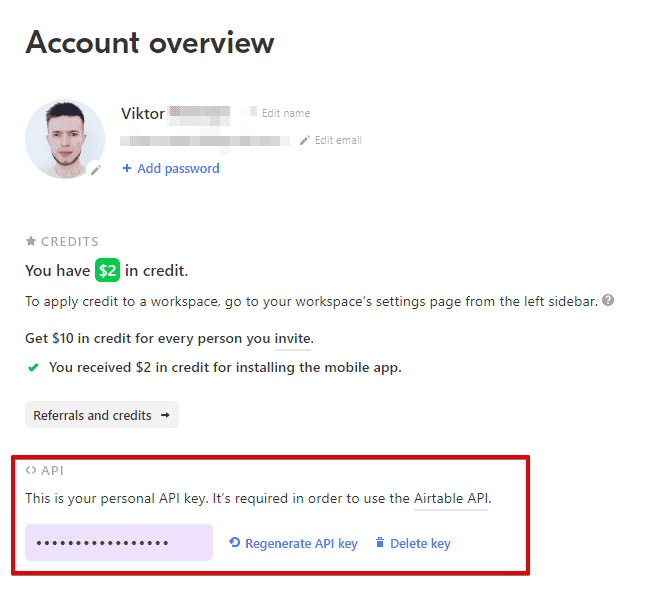 Account Airtable Google Chrome 2019 08 11 04.11.31 - Send a LINKED record value from Airtable to Zapier