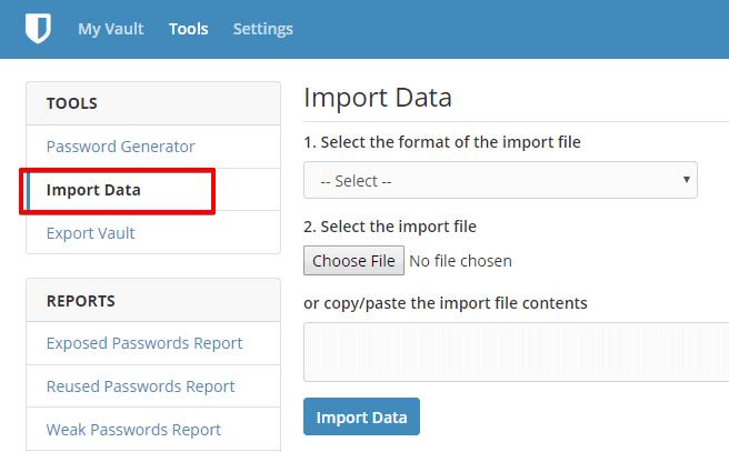 Import Data   Bitwarden Web Vault Google Chrome  - LastPass VS Bitwarden: The Exodus