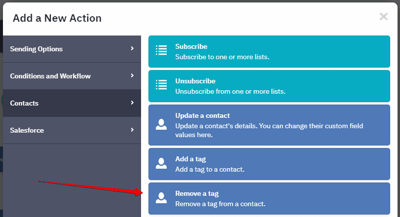 ActiveCampaign remove tag 1 - How to assign tags in ActiveCampaign on purchase in ThriveCart