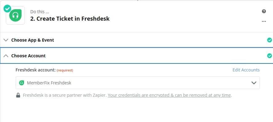 Choose Account freshdesk - How to create tickets in Freshdesk with Gravity Forms?