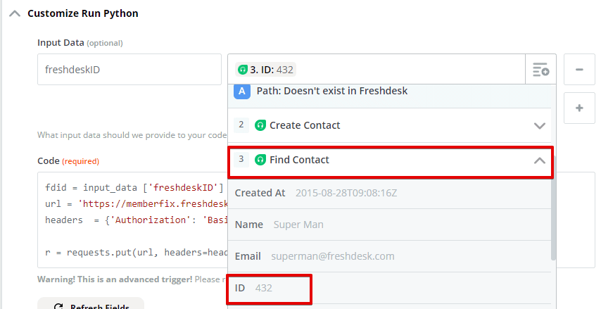Freshdesk Zapier Python 6 - Automatically Activate FreshDesk Accounts on ThriveCart Purchase