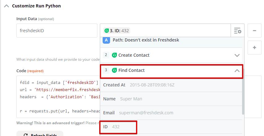 Freshdesk Zapier Python 6 - Automatically Activate FreshDesk Accounts on ThriveCart Purchase
