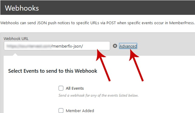 webhooks advanced - How To Assign A Universal MemberPress Password On Signup