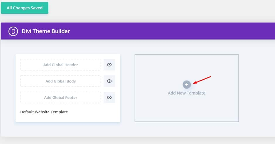 Add new Template - How to use Divi for Search results page