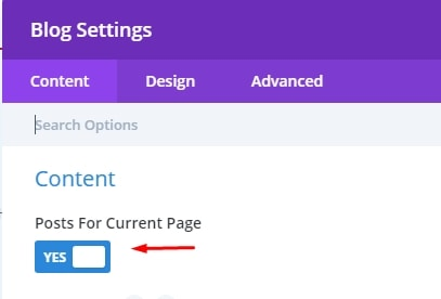 Posts for current page - How to use Divi for Search results page