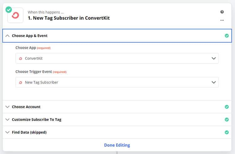 zap2 - Cancel PayKickstart Subscription Based on ConvertKit Tag