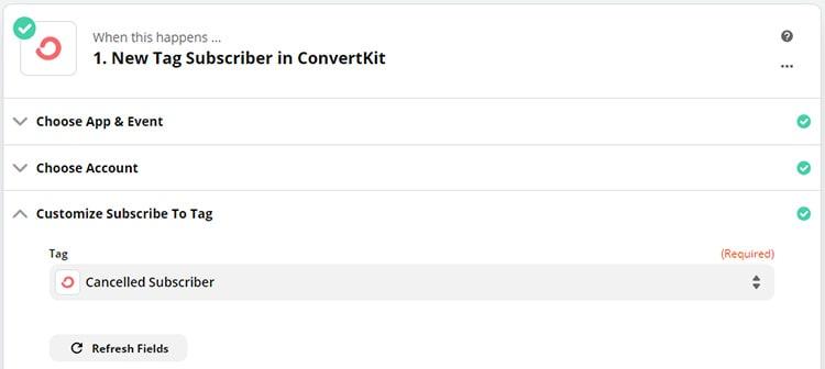 zap5 - Cancel PayKickstart Subscription Based on ConvertKit Tag