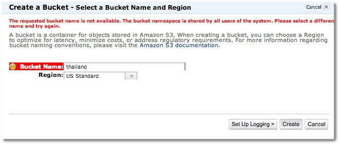 select bucket name - How To Set Up Streaming Video For Your Membership Site