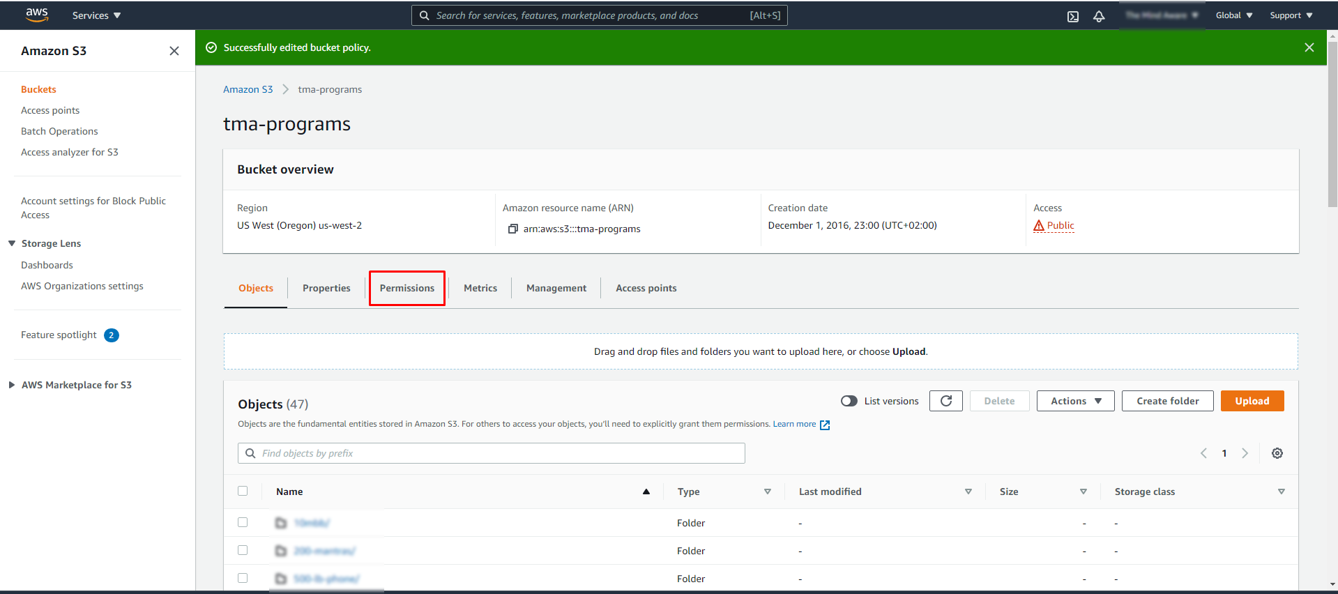 Screenshot 193 - Restricting access to your Amazon S3 to members only without using a plugin
