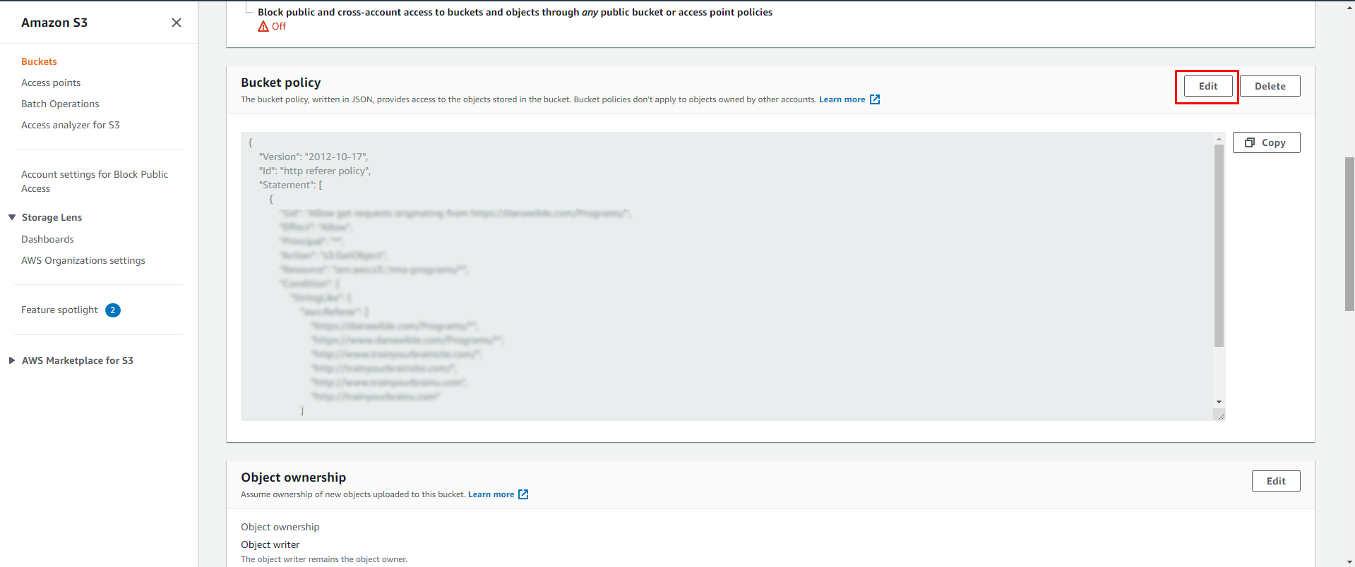 Screenshot 194 - Restricting access to your Amazon S3 to members only without using a plugin