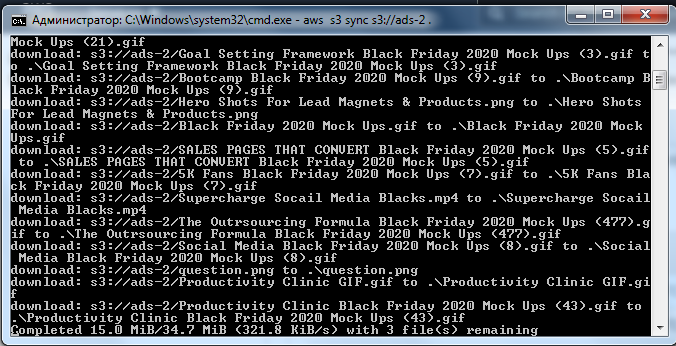 Screenshot 208 - Full AWS bucket backup
