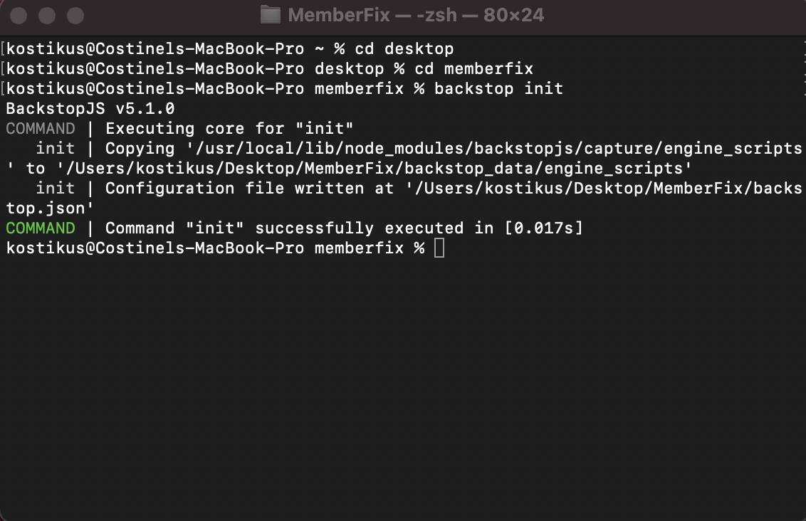 screenshot 2 - How to do regression testing for your WordPress site using BackStop JS